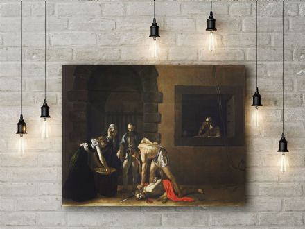 Caravaggio: The Beheading of St. John the Baptist. Fine Art Canvas.